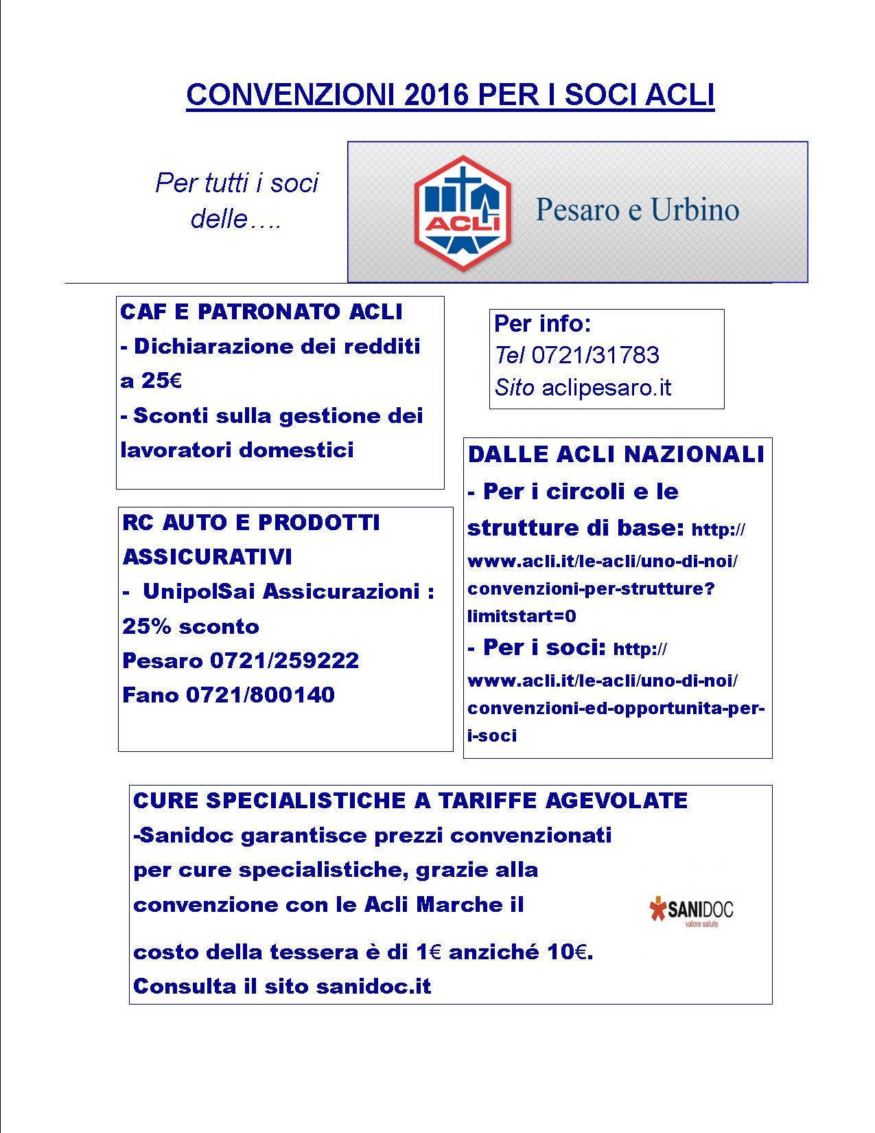 602632dc63 Convenzioni 2016 per i soci Acli - ACLI Pesaro