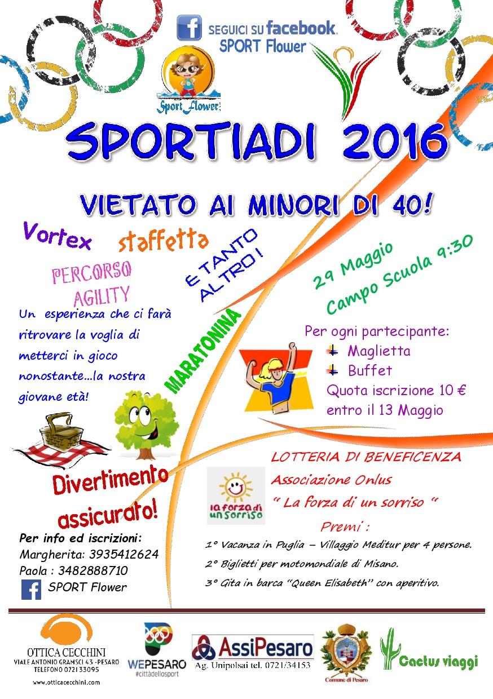 Sportiadi 2016 VOLANTINO DEFINITIVO