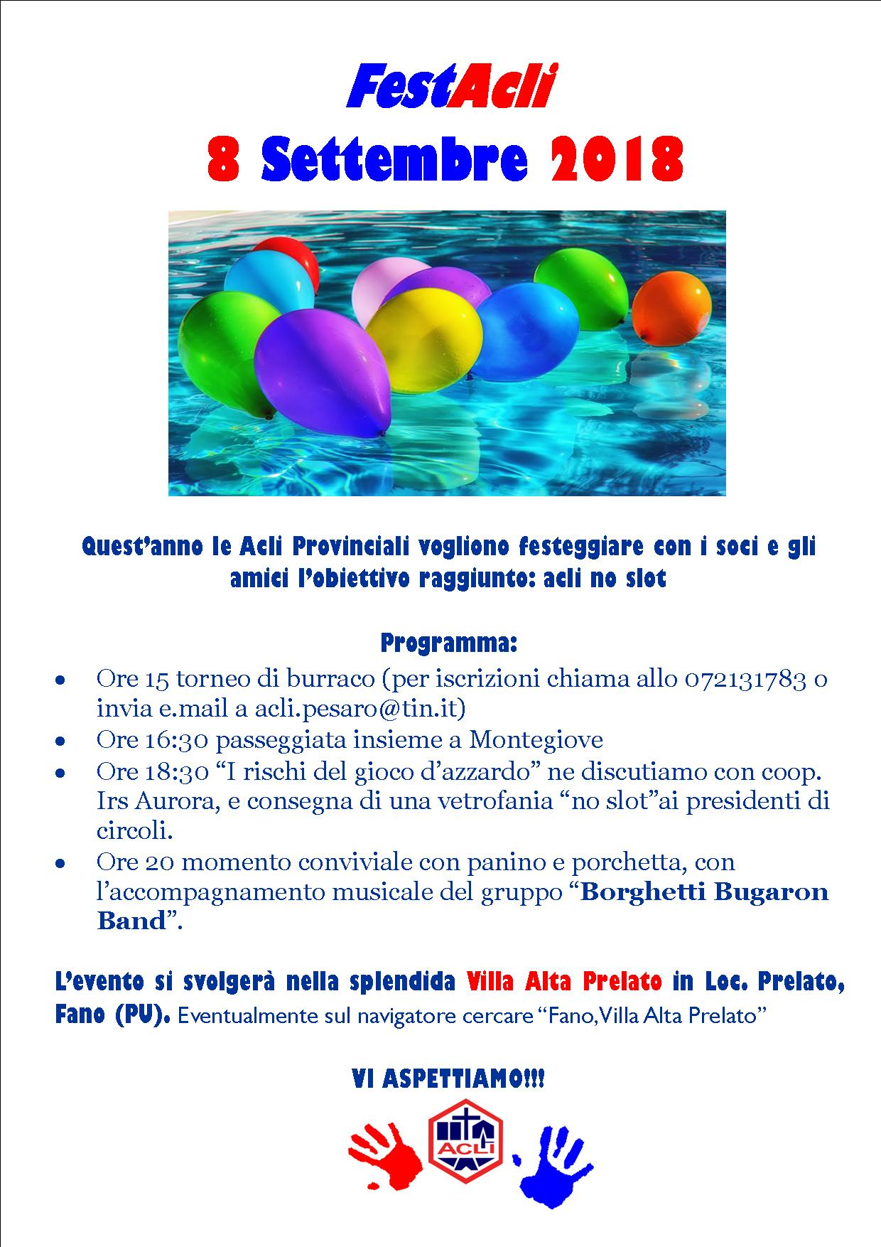 Volantino FestAcli 2018